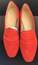 NEW $165 Jcrew Womens 8.5 Georgie Suede Penny Loafers Red Smokey Coral E0397