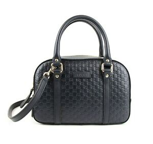 Gucci Dark Blue Microguccissima Leather Small Crossbody Handbag 510289 4009
