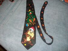 Mens Looney Tunes Mania Taz Daffy Duck Christmas Tie New with Tags