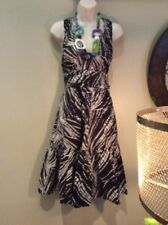 plenty by tracy reese Brown, Black  And White Sun Dress Size 6