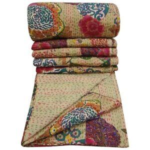 Kantha Quilt Bedspread Bedsheet Queen Size King SIze Blanket Cotton Throw Sheetk