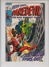 "DAREDEVIL #58  Marvel 1969 ""The Stuntmaster Spins Out"" GENE COLAN ART"