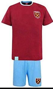 Mens West Ham United FC Official Pyjama Set Football Short Pyjamas Loungewear