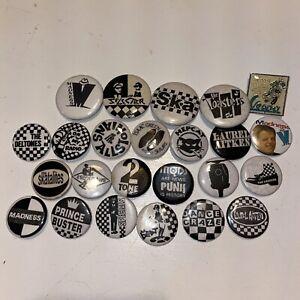 24 Lot Vintage Pins Badge Button Pinback Ska Mod Punk Specials Hepcat Madness