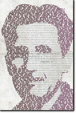 GEORGE ORWELL TYPOGRAPHIC POSTER 1984