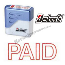 { PAID } Deskmate Red Pre-Inked Self-Inking Rubber Stamp #KE-P01