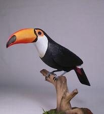 """10"""" Toco Toucan Original Wood Bird Carving/Birdhug"""