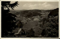 Triberg Schwarzwald Postkarte 1937 gelaufen Panorama Blick ins Nussbachtal