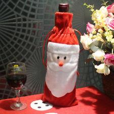 santa claus christmas candy bag wine bottle gift bag christmas decoration E&F