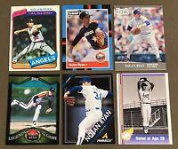 HOF Nolan Ryan 6-CARD LOT including 1980 Topps #580
