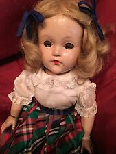 "Effenbee Lady Ann Shirley 1940's Vintage Composition 18"" Doll. EUC"