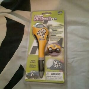 Micro RC Racer Pen Yellow #4 by Stylus R/C New Sealed Rare