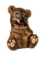 Vintage 1950's Brown Teddy Bear Cookie Jar USA 450 California Originals