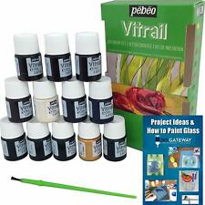 Permanent Glass Paint Stain Kit, Solvent Based 12 Pack, 20ml Professional Finish
