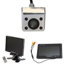 Rückfahrkamera unterbau Aufbau 12V mit 7 Zoll Monitor IR chrom Nachtsicht Mulde