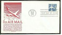 US SC # C52 Silhoutte Of Jet Airliner FDC. Anderson Cachet