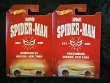 2017 Hot Wheels Marvel Spider-Man Homecoming Scoopa Di Fuego Chase Car Lot of 2