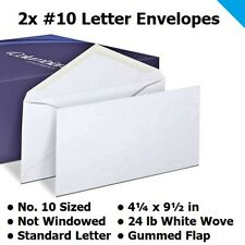 Letter Envelope (2 pcs) Standard Paper Envelopes for Mail #10