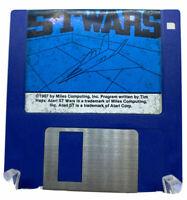 Vintage RARE Atari St ST WARS PC 1987 Game 3.5 Inch Floppy Disc Untested VTG