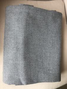 "Restoration Hardware Textured Linen Weave Grommet Drape Panel  50""x 96"" Gray"
