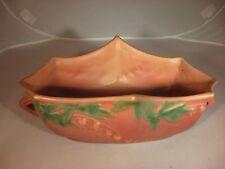 """Roseville Pottery-Bleeding Heart Planter-382-10-11 1/2"""" long-8"""" wide-4 1/2"""" tall"""