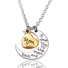 I Love You Mom Pendant Necklace Casual Wear Shiney Silver