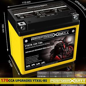 AGM Gel Battery ATV Yamaha Raptor 90 YFM 125 250 YFZ450R YFZ450X YTZ7S 12V 7Ah