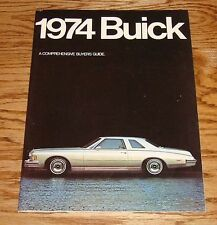 Original 1974 Buick Full Size Deluxe Sales Brochure 74 Electra Riviera Lesabre