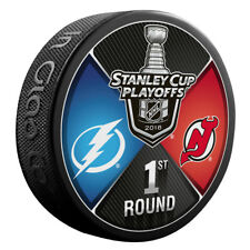 Tampa Bay Lightning vs New Jersey Devils 2018 NHL1ST RD Playoffs Dueling Puck