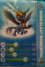 Horn Blast Whirlwind Skylanders Swap Force Stat Card Only!