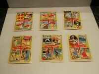 1986 Topps THE PETE ROSE YEARS #2-#7 (6 Card Lot)