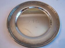 "VTG ALPHA PHI OMEGA SILVER PLATED PLATE - CONCORD INT'L SILVER CO - 6"" L BBA-2"