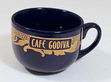 Godiva Cup 2005  Blue  Cafe Godiva  Extra Large Coffee Mug gold trim