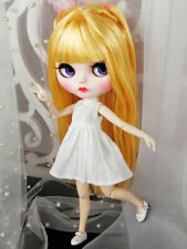 Blythe Nude Doll from Factory Golden Yellow Hair Make-up Eyebrow Sleeping Eye