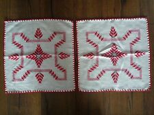 2 Zier Deckchen orientalisch  -echte Handarbeit 41x41cm -neuwertig