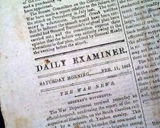 Rare CONFEDERATE CAPITAL w/ Robert E. Lee Letter Civil War 1865 Old Newspaper