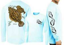 David Dunleavy DMW8015 Flounder Long Sleeve Tee - Arctic Blue