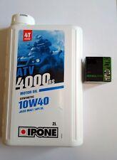 Pack vidange quad ADLY 500 S 2010 à 2014 huile moteur 10W40 IPONE + 1 filtre