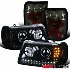 For 2001-2005 Ford Ranger Black Projector Headlights W Ledsmoke Tail Lamps