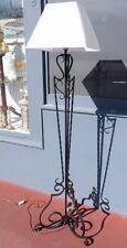 Grand Lampadaire En Fer Forgé, époque Vers 1950