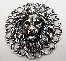 LION BROOCH CELTIC KILT PIN - STERLING SILVER PLTD - Scottish Hat Pin - QUALITY