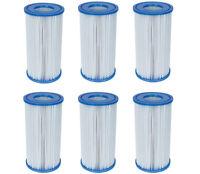 Bestway Swimming Pool Filter Pump Replacement Cartridge Type III 58012 (6 Pack)