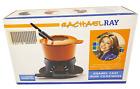 Rachel Ray 1.5 Quart Orange Enamel Cast Iron Fondue Cookware Set Sealed NEW