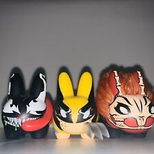 Kid Robot Labbit Lot Mini Marvel Series Wolverine , Venom , Ghost Rider RARE