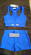 Adidas Stella mcCartney hotpants + bra sports set - 2XS - Blue - NWT - RARE