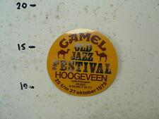 STICKER,DECAL CAMEL OLD JAZZ FESTIVAL HOOGEVEEN OKTOBER 1979 KAMEEL