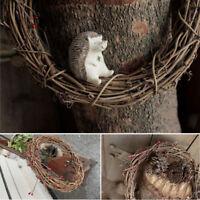 Handmade Craft Christmas Natural Dried Rattan Wreath Xmas Garland Wall Decor