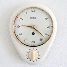 HETTICH Wall Clock KITCHEN Timer Mid Century Vintage 1950s German Ceramic/Glass