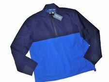 Ralph Lauren POLO men's Golf JACKET blue Packable PULLOVER convert LARGE L