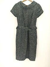 Banana Republic Wool Blend Dress New Size 8 Belted Short Sleeve Lined Zip Close